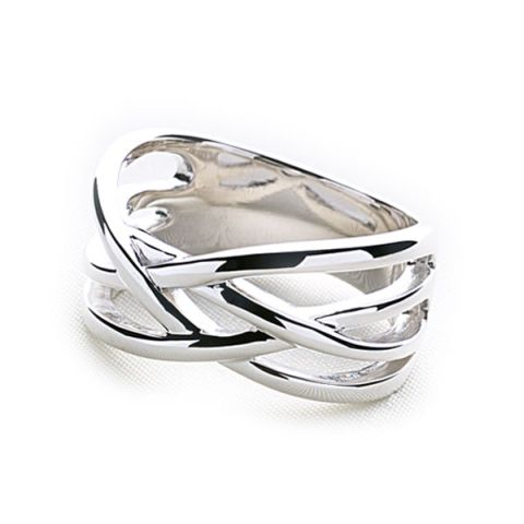 silver weave ring silver rings silver by mail website