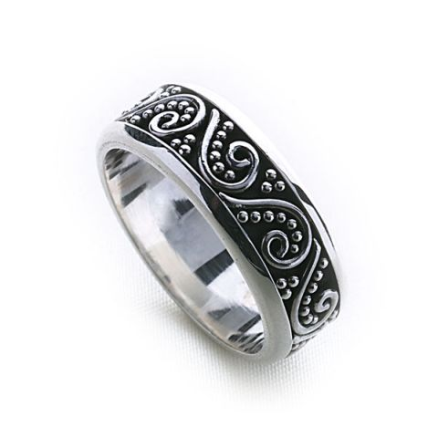 bali stack ring thick silver rings silver by mail