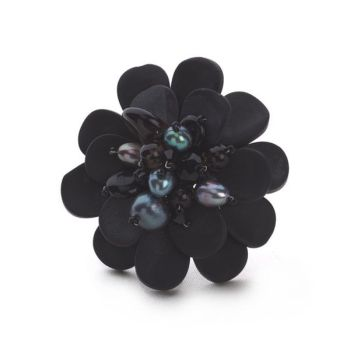 Bali Bay Brooch Small (Onyx)
