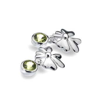 Peridot Clover Earrings