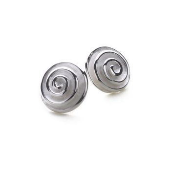 Spiral Shimmer Earrings (Small)
