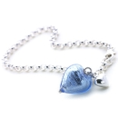 Heart Of Glass Anklet (Sky Blue)