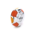 Polka Spacer Bead (citrus)