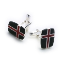 Saint George Cufflinks (Red and Black)