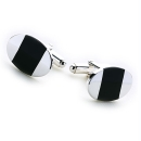 The Oval Cufflinks (Black)