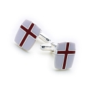 Saint George Cufflinks (Red and White)