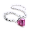 Heart of Glass Chain (Plush Pink)