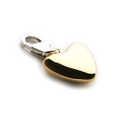 Golden Heart Charm (Large)