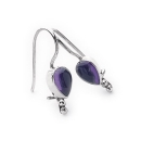 Amethyst Tear Earrings