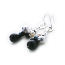 Pique Earrings (black Onyx)