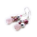 Pique Earrings (rose Quartz)