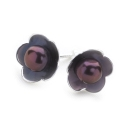 Pearl Posy Earrings (Grey)