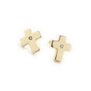 Gold Passion Cross Earrings 14k