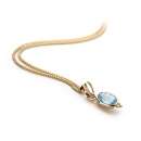Maya Pendant Blue 9ct