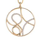 Golden Ripple Pendant 9ct (pendant Only)