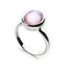 Ocean Haze Ring Rose Quartz