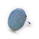 Candy Cocktail Ring (white Opal)