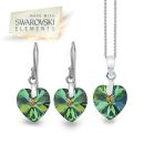 Swarovski Rainbow Heart Set (P1860+E3176)