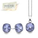 Swarovski Tanzanite Square Set (P1864+E3180)